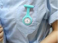 1PC New Fashion Silicone Nurse Pocket Watch Doctor Men Women Jelly Hanging Convenient Pocket Quartz Watch Clock Free Shipping