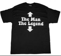 Custom Funny T-Shirt The man the Legend Black  Man O-Neck t shirt Boy Girl Printed  Diy T-Shirt Free Shipping
