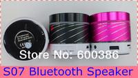 S07 Mini Bluetooth Speaker Louder Speaker Support TF Card FM Radio Handsfree Microphone Multi Colors