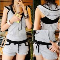 2014 new arrival fashion summer sport suit women casual fashion 3 pieces vest + outerwear + shorts