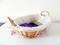 Desktop Storage Box For Cosmetics Jewelry Storage Basket Box Sundries Wicker Woven Handmade Knitted Eco-friendly Big YellowChina