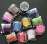 Free Shipping 12 Color Nail Velvet Flocking Powder for Velvet Manicure Nail Art Polish Tips Set Flocking Powder