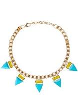 BIgbing Fashion trend of the women's necklace fashion design trigonometric women's short necklace  F017