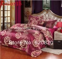 Home Textile, Princess Full King Queen size Bedding Set Bedding Sets 4Pcs Duvet Cover Bedsheet Pillowcase, Luxury Bedclothes,