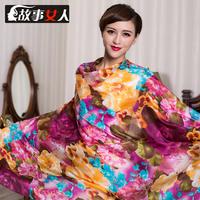 2014 Spring Silk scarf silk mulberry silk paj silk scarf 2013 cape