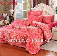 Home Textile Red Camel Imitation Silk Cotton Bedding Sets,Bedclothes/Belinens including Duvet Cover Sheet, Luxury bedspreads