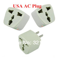 Universal Travel Power Charger AC Adapter EU/AU/UK to USA Detachable Plug Head Converter For LED Charger Electronic Toy Etc