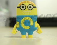 Worldwide promotion the Newest Despicable Me Cartoon Anime Shaped Card Reader MP3 Music Player With Earphone&Mini USB