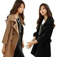 2014 new spring autumn women's loose cashmere coat cloth outerwear slim medium-long woolen overcoat WTP2