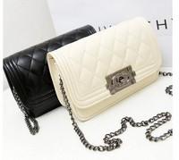 2014 fashion  women's handbag bag small plaid chain vintage messenger bag free shipping