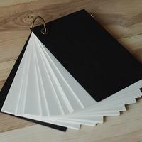Black card monoepoxide loose-leaf notebook memo pad portable notepad