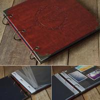 Quality leather photo album photo album lovers handmade diy paste type deep love
