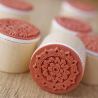 Korea stationery circle wool vintage decorative pattern stamp lace series 6