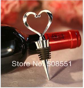 spedizione gratuita nuovo arrivato di alta qualità in lega di zinco tappo del vino cuore tappo di bottiglia pacco regalo