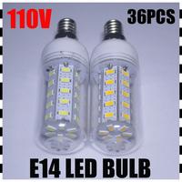 4PCS/LOT High Power E14 12W SMD 5730 36pcs LED  AC110V Led Corn bulb light spotlights Warm/Cool White CE/RoHS 360 Degree