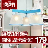Brief modern pendant light child study light cartoon lamps 80013