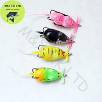 4pcs Perfect Fishing Lures Soft Plastic Mouse Fish Frog  Bait tow Japan Hooks 100mm 8g minnow crankbait fashion style