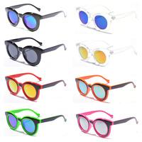 2014 Summer Women Round Coating Sunglasses Brand Designer Fashion Small Round oculos De Grau Outdoor Girls Glasses Accessories