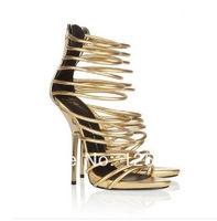 2014 women new Roman han edition golden circle high-heeled sandals