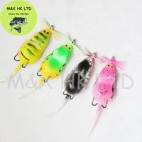 Perfect Fishing Lures Soft Plastic Mouse Fish Frog  Bait tow Japan Hooks 40pcs/ lot  100mm 8g minnow crankbait fashion style
