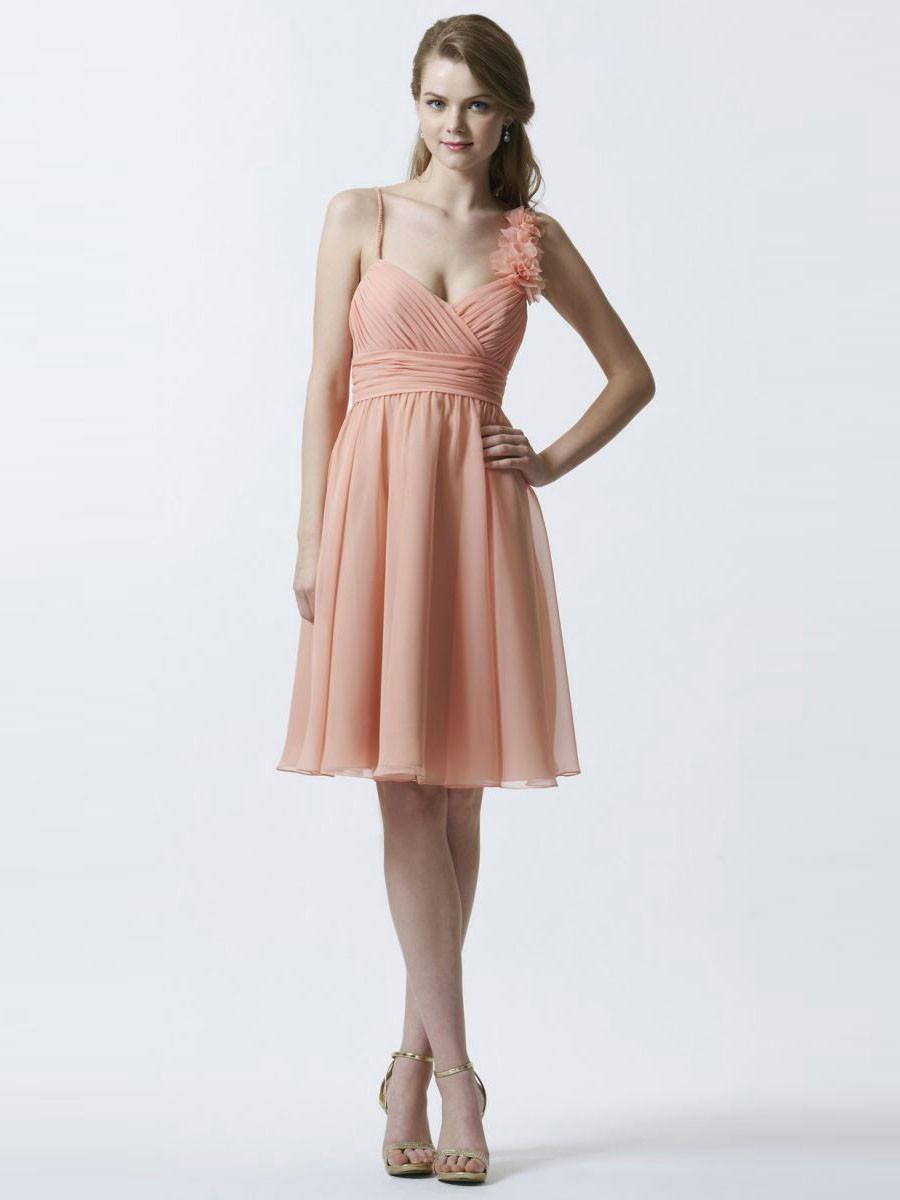 Spaghetti Strap Bridesmaid Dresses 4