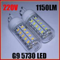 4PCS/LOT G9 5730 SMD 36 LED 12W AC220-240V Corn Bulb Light Lamp LED Lighting Warm/Cool White CE/RoHS Energy Saving