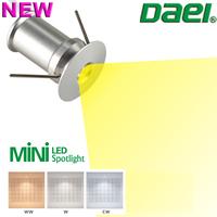 Daei Brand 2014 new product Temmokus 1.5W MINI LED Spotlight LED Cabinet Light Round 3000K 4000K 6000K 48piece/lot Free Shipping