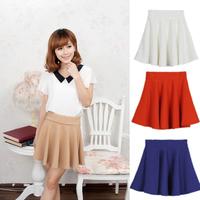 2014 New Spring Autumn Women's Fashion High Waist Skirts Tutu Skirts Pleated Skirts for Women 12 colors 5pcs/Lot