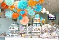 """Wholesale 500pcs/lot 7"""" Paper Flowers Ball Peony Bouquet Garland Wedding Props Supplies Decoration Bouquet Tissue Paper Pom Poms"""