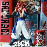 Free shipment new 2014 hot toys PVC action figure Japanese anime Dragon Ball Z Super Saiyan 4 Gogeta figurine toys for boys gift