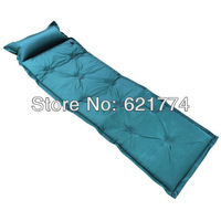Hot Sales Outdoor Automatic Inflatable Moisture-proof Mat Tent Pad Sleeping Cushion Broadened Thickening Mattress with Pillow