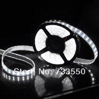 Free shipping 12V 5M 5050 Double Row SMD 120leds/M Tube 600LEDs Waterproof LED Strip Light White / Warm White