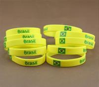 2014 World Cup Brazil Silicone Wristband Brazil Bangle Football fans' Bracelet the cheapest bracelet free shipping /J