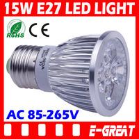 6XHigh Power Cree Dimmable E27 Socket 15W LED Bulb Lamp Spotlights AC 110V 220V 230V 240V Warm/Cold White CE/RoHS