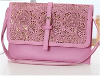 2014 New! Fee shipping ladies fashion day clutch bag, hollow out neon clutch, chain envelope bag,candy colors