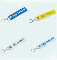 2014 World Cup Brazil Football Team logo Key Tags Football fans' gifts 10 pcs/lot free shipping/ Jane