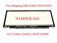 """Free shipping! Brand new A+ N144NGE-E41 14.4"""" LED LCD Screen for Toshiba U840W U845W U800W"""
