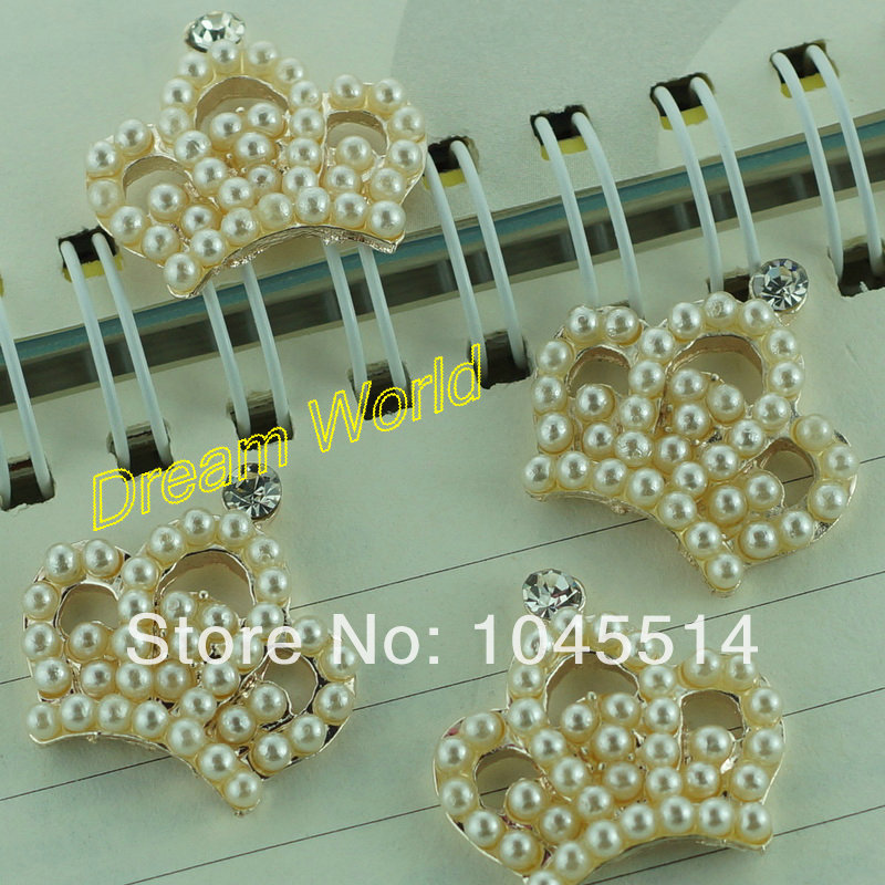 decorative crown buttons hair flower buttons flat back wedding decoration for craft fashion (20 pcs/lot)(China (Mainland))