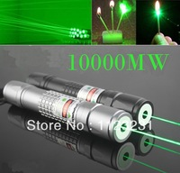 20142014Burn Match Professional Powerful 10000MW Focusable burning Green Laser Pointer Pen lazer pointer 10000m