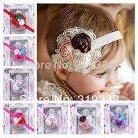Baby Flower Headband Infant girls Headbands with Rhinestones Photo Prop Weddings Special Occasion Photo Prop 10pcs HB164