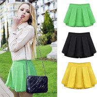 Skorts summer women's 2014 plus size shorts mm high waist chiffon pleated skirt pants