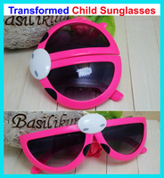 FD08 child sunglasses male female child deformation of the transform beetle sunglasses 7colors high quality hotsale freeshipping