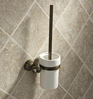 Quentzel copper toilet brush toilet cup thickening base toilet brush antique brass toilet brush