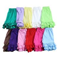 wholesale New 2014 summer cotton ruffle girls shorts