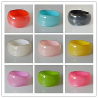 2014 New Resin Bangle Bracelets Shinning Fluorescence Color Wide Bangles Bohemian Style Multicolor Personalized Jewelry SZ212