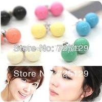 Wholesale--FASHION!!! Lovely 9 Colors candy earrings ball earrings !