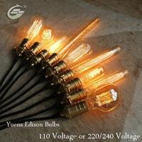 Special lighting Filament Art light bulb vintage Edison lamp E27 110V/120V/220V/240V Incandescent Bulbs,Free Shipping,T45II