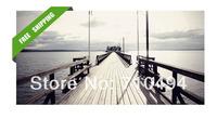 sea gallery bridge oil painting, free shipping