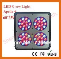 Apollo 4 60*3W grow light 180W Led Hydropnic Lamp Plant Grow Light Panel Replace 400W HID Grow Light