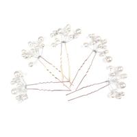 Colour bride squid sweet pearl small wedding hair stick hair accessory white hair accessory the wedding hair accessory
